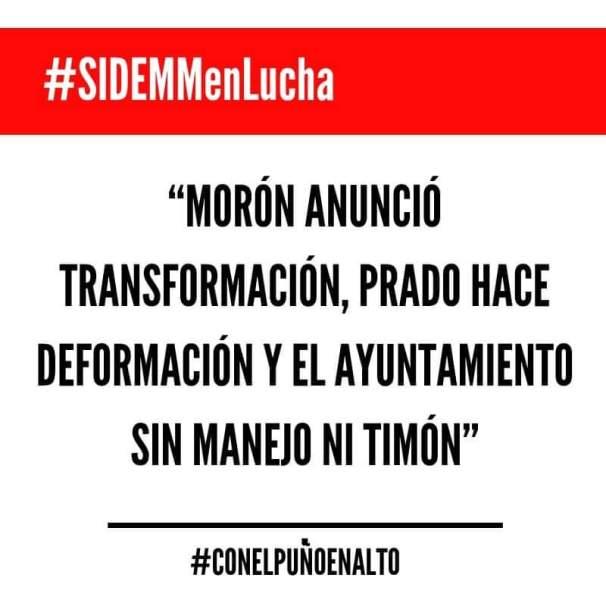 Ignora Ayuntamiento de Morelia lucha de SIDEMM