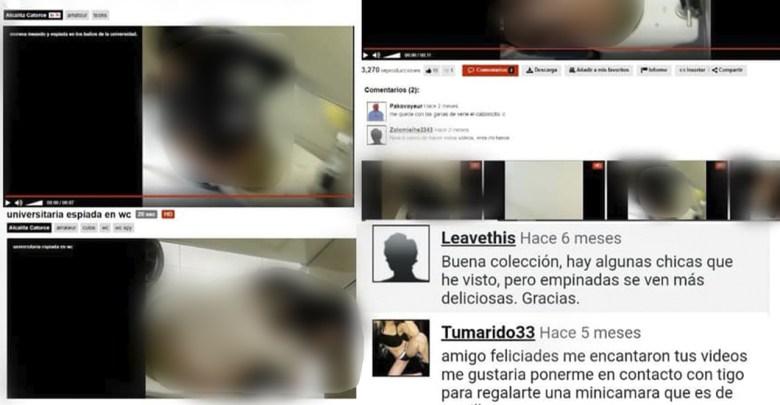 Grababan a estudiantes de la UNAM en los baños, los videos fueron subidos a sitios para adultos