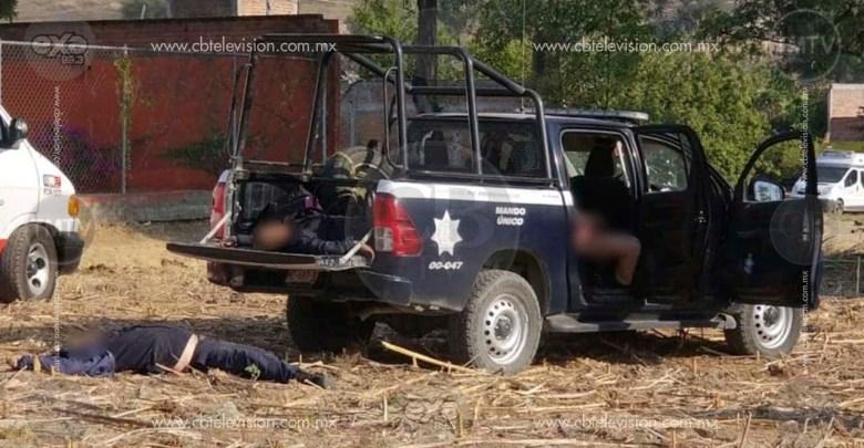 Policía muerta en enfrentamiento de Tarímbaro no pudo defenderse, no le dieron armas