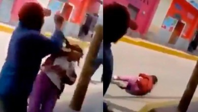 Photo of Video: Por diversión sujeto golpea a una anciana indigente