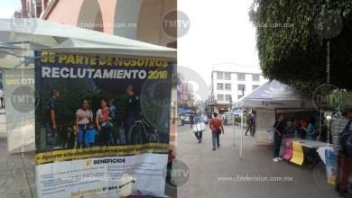 Se instalan modulos en Zitácuaro y Apatzingán para reclutar policias de la SSP