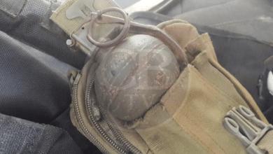 Aseguran camioneta con una granada