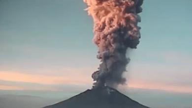 VIDEO: Esta mañana, Popocatépetl registró explosión de 5 km de altura