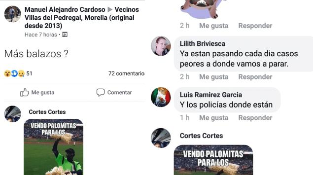 Vecinos de Villas del Pedregal reportan balazos a través de redes sociales