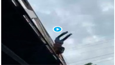 Video: Captan momento en que un hombre se avienta de un puente en Nuevo León; sobrevive