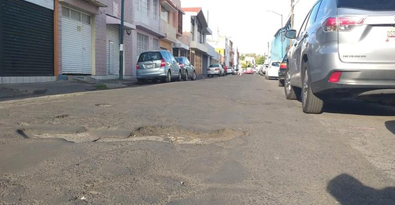 Ana María Gallaga otro ejemplo de baches en Morelia