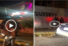 Video: Captan a jóvenes teniendo relaciones sexuales afuera de un bar en Puebla; son detenidos