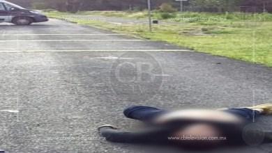 Cadáver baleado es localizado en la antigua carretera Morelia-Pátzcuaro