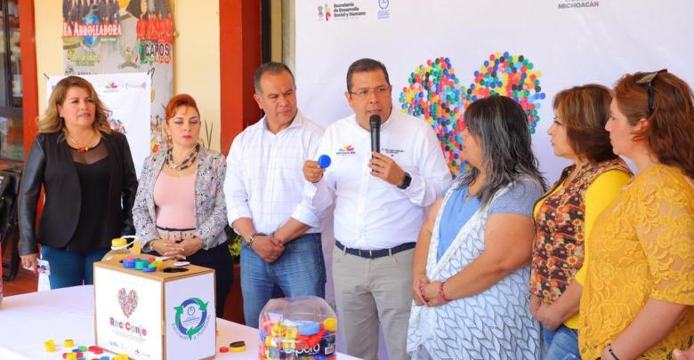 Queréndaro, primer municipio en unirse a ReciCanje: Sedesoh