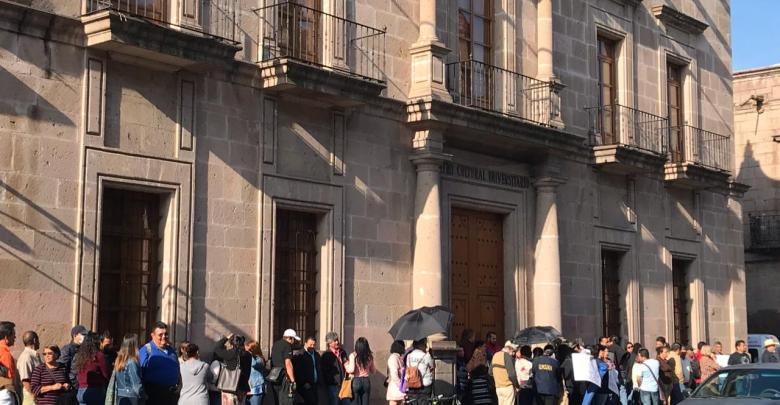 SUEUM se manifiesta en contra de la modificación de Jubilaciones y Pensiones en la UMSNH