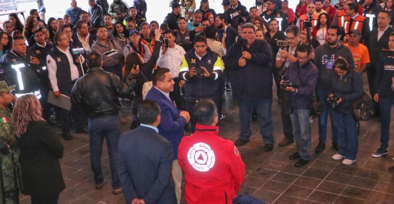 Uruapan participó con éxito en Macrosimulacro Nacional