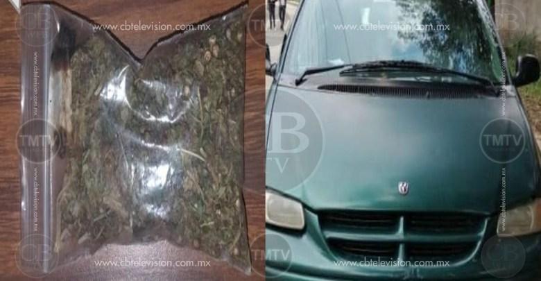 Por traer marihuana lo arresta la policía en la tenencia de Curungueo