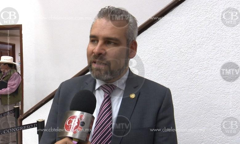 Ramírez Bedolla promueve Ley de Austeridad para funcionarios públicos de Michoacán