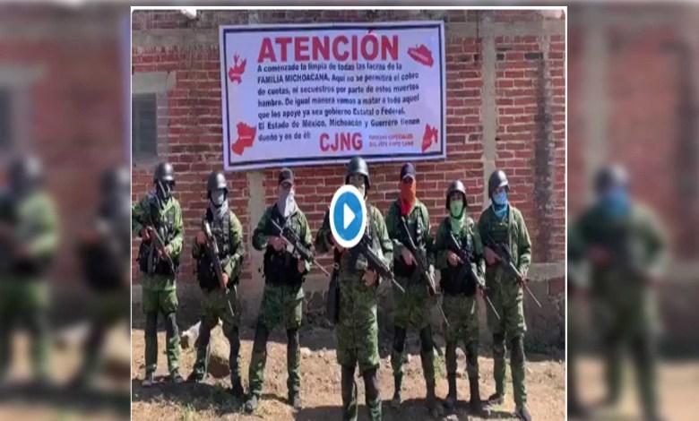 "Video: CJNG amenaza a las ""lacras"" de la Familia Michoacana"