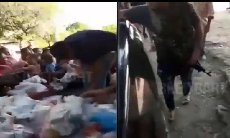 Video: Captan a sicarios repartiendo despensas por coronavirus en Michoacán