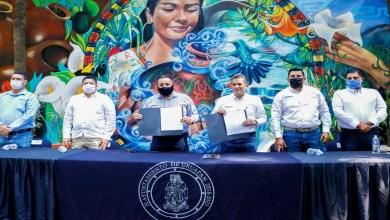 Photo of Víctor Manríquez firmó el convenio del esquema Proagua 2020