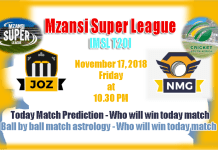 Jozi Stars vs Nelson Mandela Bay Giants Mzansi Super League 2018 Match Tips Toss Session Lambi Pari Fancy JOZ vs NMG Mzansi T20 Match Reports