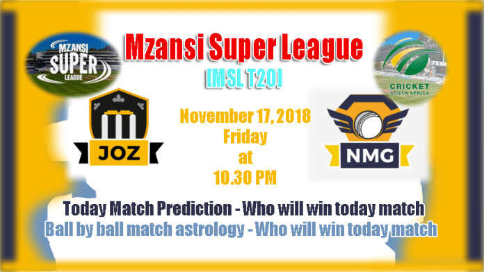 Jozi Stars vs Nelson Mandela Bay Giants Mzansi Super League 2018 Match Tips Toss Session Lambi Pari Fancy JOZ vs NMG Mzansi T20 Match Reports