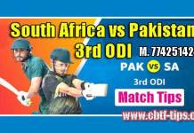 3rd ODI Match Reports RSA vs PAK Toss Lambi Pari Session Tips