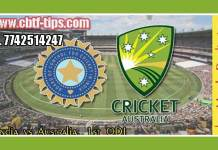 1st ODI IND vs AUS 100% Sure Win Tips Non Cutting Match