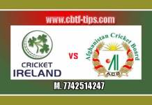 2nd T20 IRE vs AFG 100% Sure Win Tips Non Cutting Match