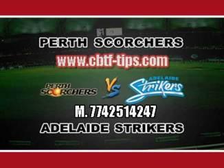 BBL T20 54th Adelaide vs Perth 100% Sure Win Tips Non Cutting