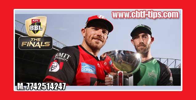 BBL T20 Final Renegades vs Stars 100% Sure Win Tips Non Cutting Match