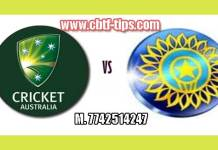 2nd ODI AUS vs IND 100% Sure Win Tips Non Cutting Match