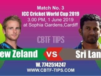 World Cup 2019 NZL vs SL 3rd Match Prediction & Betting Tips