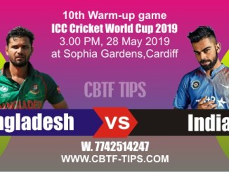 IND vs BAN Warm UP CWC19 Match Prediction & Betting Tips