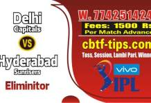 Lagai Khai DC vs SRH Eliminator Match IPL Match Prediction & Betting Tips Cricket Win Tips