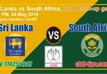 Lagai Khai RSA vs SL Warm Up World Cup 2019 Match Prediction & Betting Tips