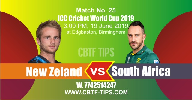 World Cup 2019 SA vs NZL 25th Match Reports Betting Tips