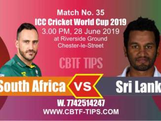 World Cup 2019 SL vs SA 35th Match Reports Betting Tips