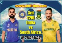 3rd T20 RSA vs Ind Cricket Prediction Match Cricket Betting Tips accurate Correct Reports Toss Session Lambi Pari CBTF Baazigar Bhai Ji King JSK Tips Jackpot Khai Lagai
