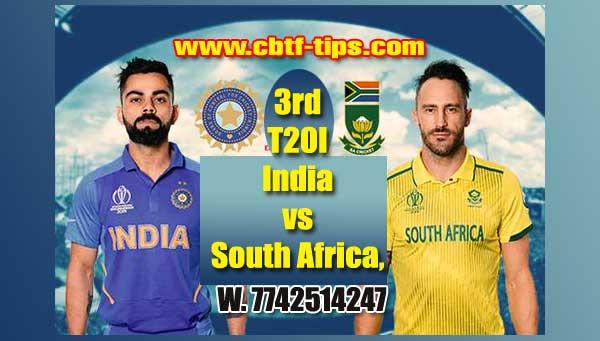 3rd T20 RSA vs Ind Cricket Prediction Match Cricket Betting Tips accurate Correct Reports Toss Session Lambi Pari CBTF Baazigar Bhai Ji King JSK Tips Jackpot Khai Lagai