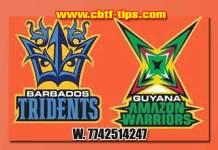 CPL 2019 Barbados vs Guyana 19th Match Cricket Betting Tips accurate Correct Reports Toss Session Lambi Pari CBTF Baazigar Bhai Ji King JSK Tips Jackpot Khai Lagai