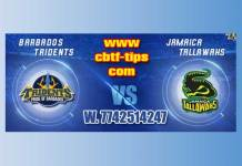 CPL 2019 Jamaica vs Barbados 20th Match Cricket Betting Tips accurate Correct Reports Toss Session Lambi Pari CBTF Baazigar Bhai Ji King JSK Tips Jackpot Khai Lagai