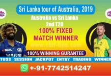 SL vs AUS 2nd T20 Cricket Betting Tips Match Prediction