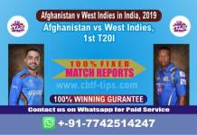 AFGH vs WI 1st T20 Match Reports Cricket Betting Tips Prediction