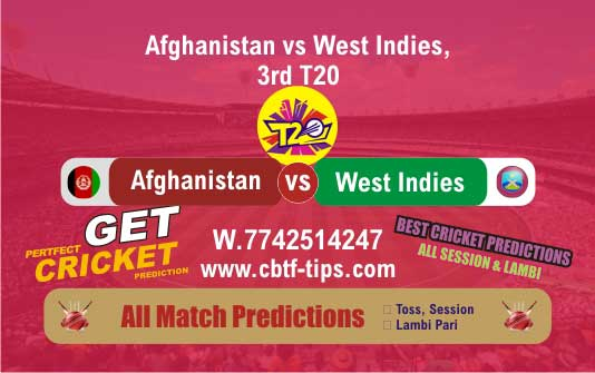 AFGH vs WI 3rd T20 Match Reports Cricket Betting Tips Session Lambi