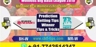 BHW vs MRW 48th Womens Big Bash 2019 Match Reports Betting Tips