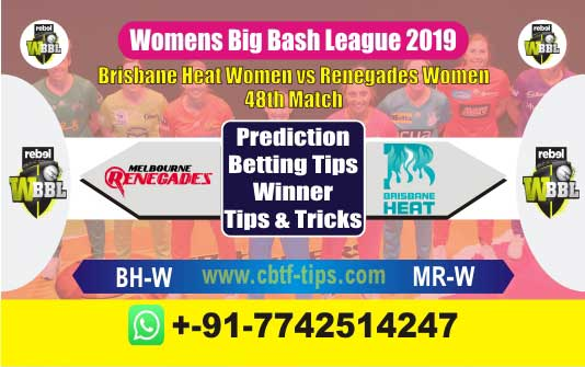 BHW vs MRW 48th Womens Big Bash 2019 Match Reports Betting Tips