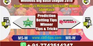 MRW vs MSW 50th Womens BBL T20 Match Reports Betting Tips - CBTF