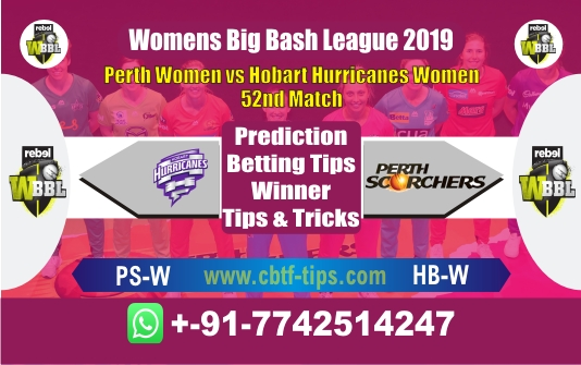HBW vs PSW 52nd Womens BBL T20 Match Reports Betting Tips - CBTF