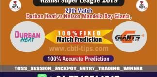 DUR vs NMG 20th Mzansi Super League Match Reports Betting Tips - CBTF