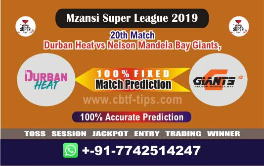 DUR vs NMG 20th Mzansi Super League Match Reports Betting Tips - CBTF