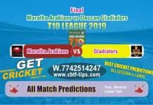 MAR vs DEG Final T10 League 2019 Match Reports Betting Tips - CBTF