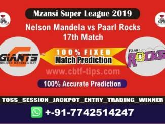 NMG vs PR 17th Mzansi Super League Match Reports Betting Tips - CBTF