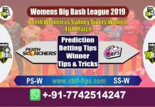 PSW vs SSW 47th Womens Big Bash League 2019 Match Reports Cricket Betting Tips